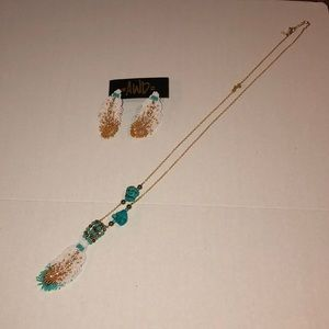 Tribal necklace and earring set- never worn